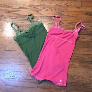 Lot of 2 gently used Abercrombie tanks. Size XL